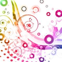 fondo-blanco-con-ondas-y-estrellas-de-colores